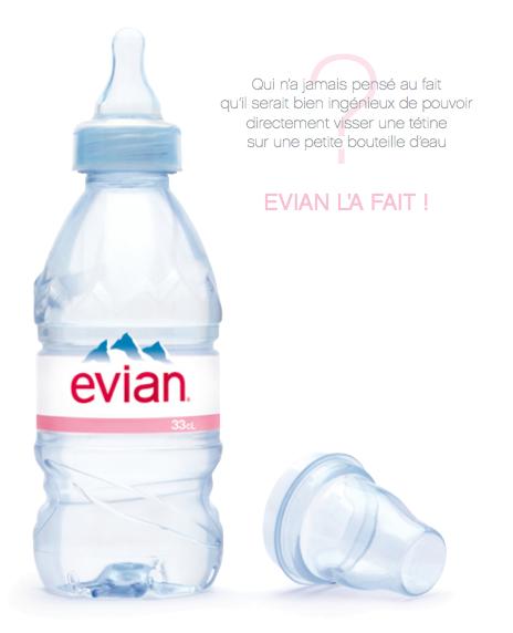 Evian baby la t tine qui transforme une bouteille d eau en biberon doudou stiletto - Biberon et eau du robinet ...