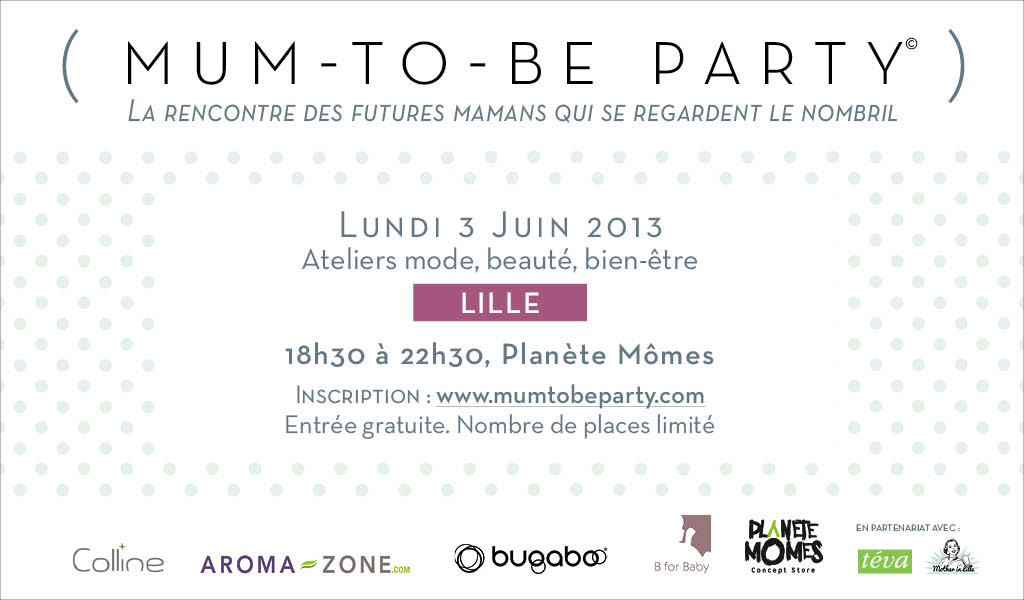 Link to La Mum-to-Be-Party sera à Lille le 3 juin !